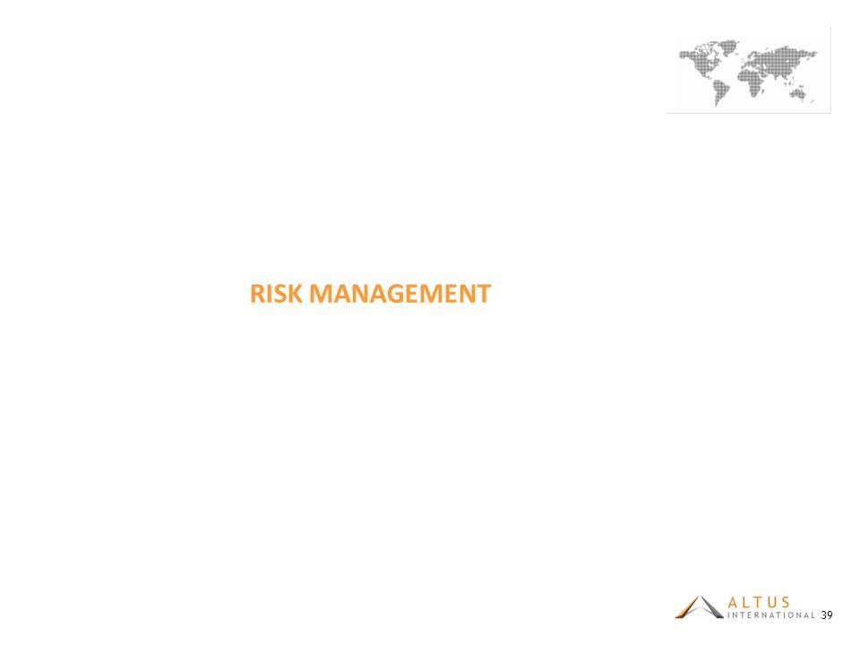 RISK MANAGEMENT 39