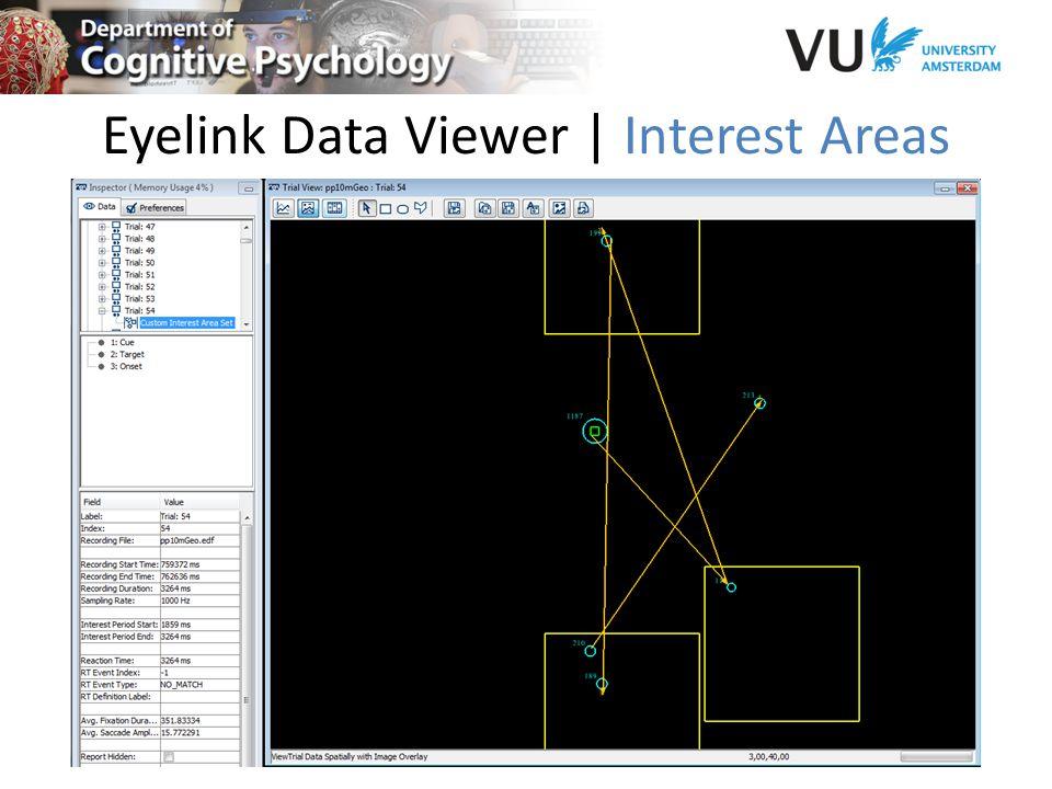 Eyelink Data Viewer | Interest Areas