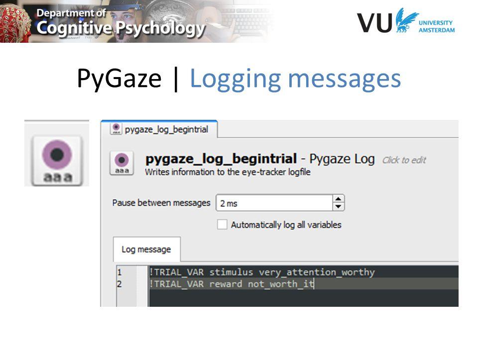 PyGaze | Logging messages