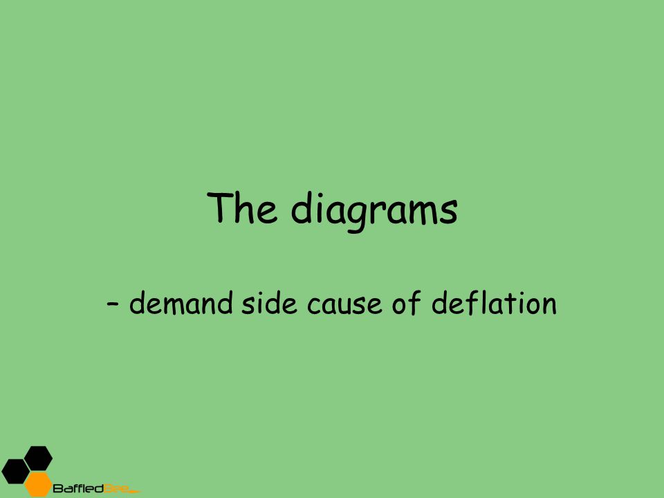 The diagrams – demand side cause of deflation
