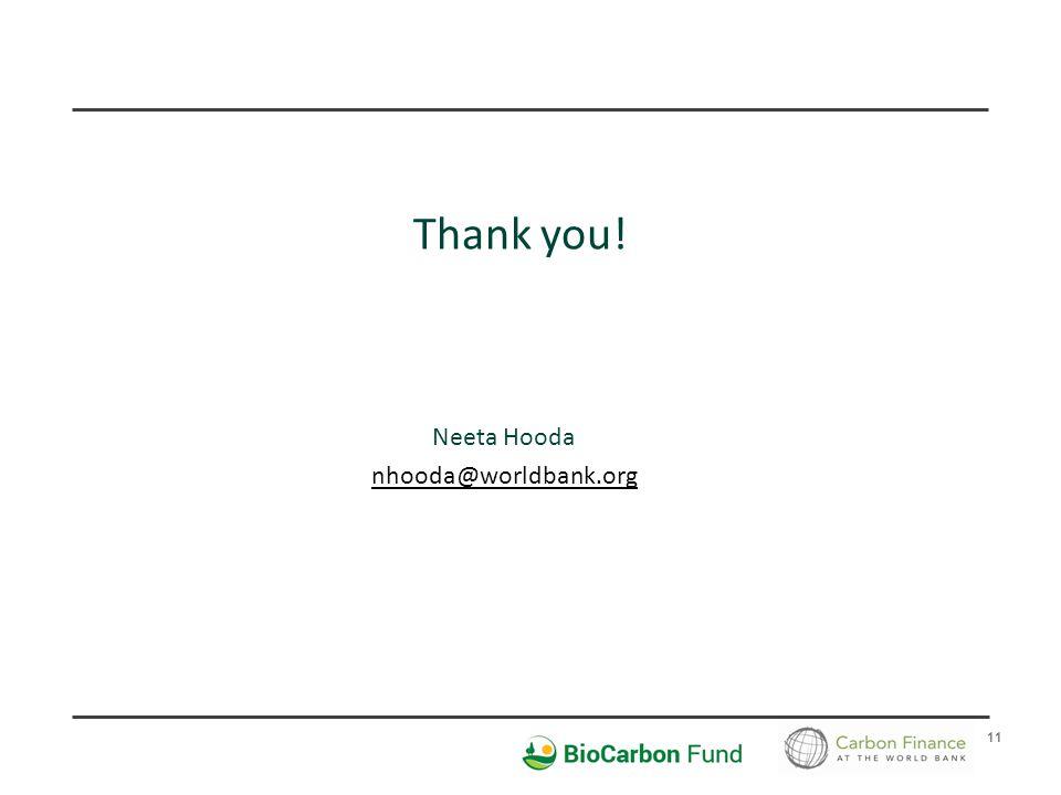 11 Thank you! Neeta Hooda nhooda@worldbank.org