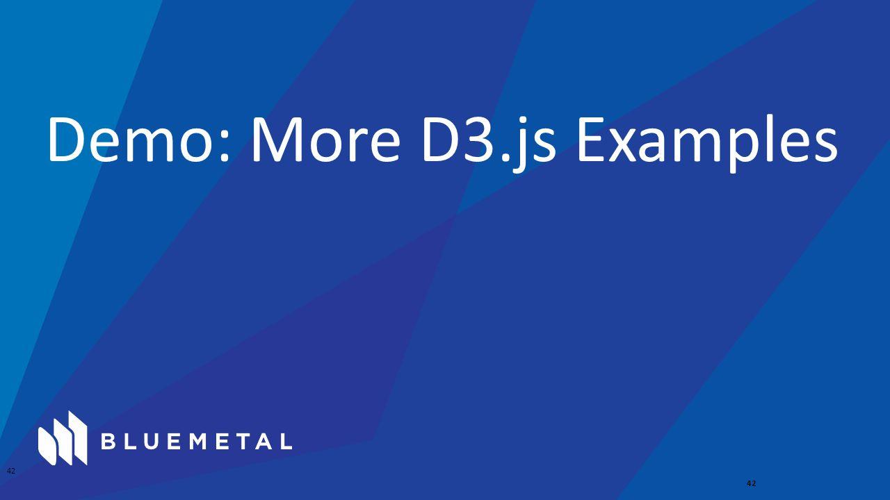 Demo: More D3.js Examples 42