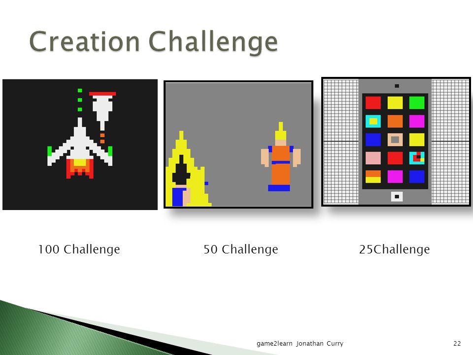 game2learn Jonathan Curry22 100 Challenge50 Challenge25Challenge