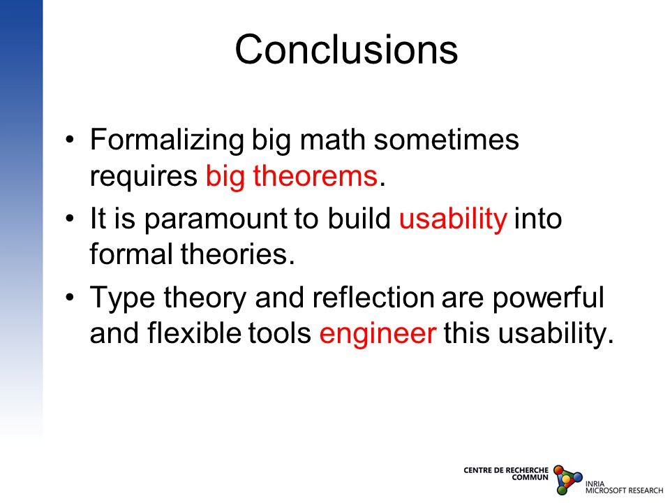 Formalizing big math sometimes requires big theorems.
