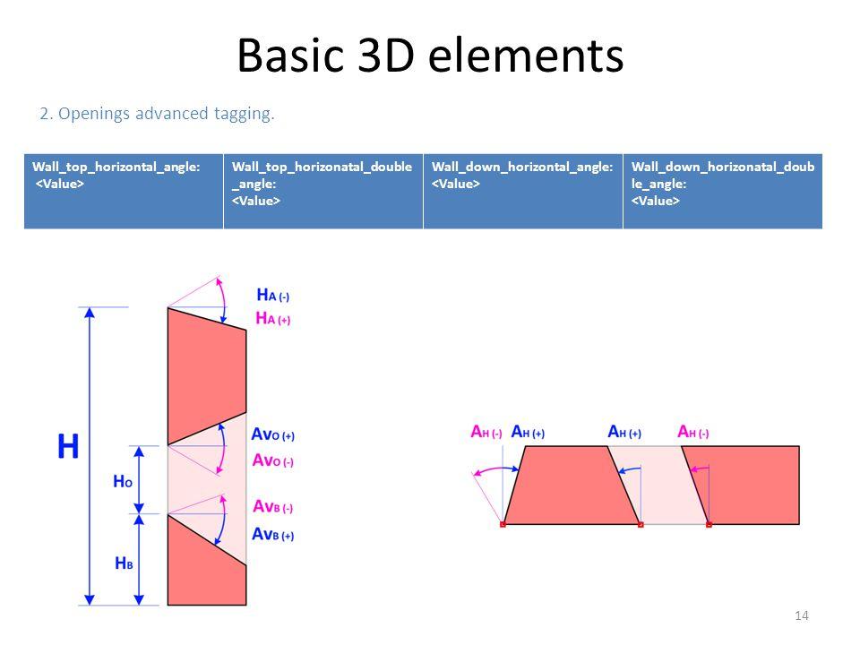 Wall_top_horizontal_angle: Wall_top_horizonatal_double _angle: Wall_down_horizontal_angle: Wall_down_horizonatal_doub le_angle: 2. Openings advanced t