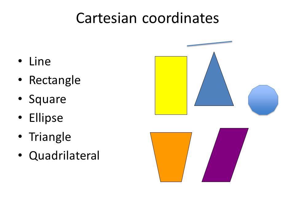 Cartesian coordinates Line Rectangle Square Ellipse Triangle Quadrilateral