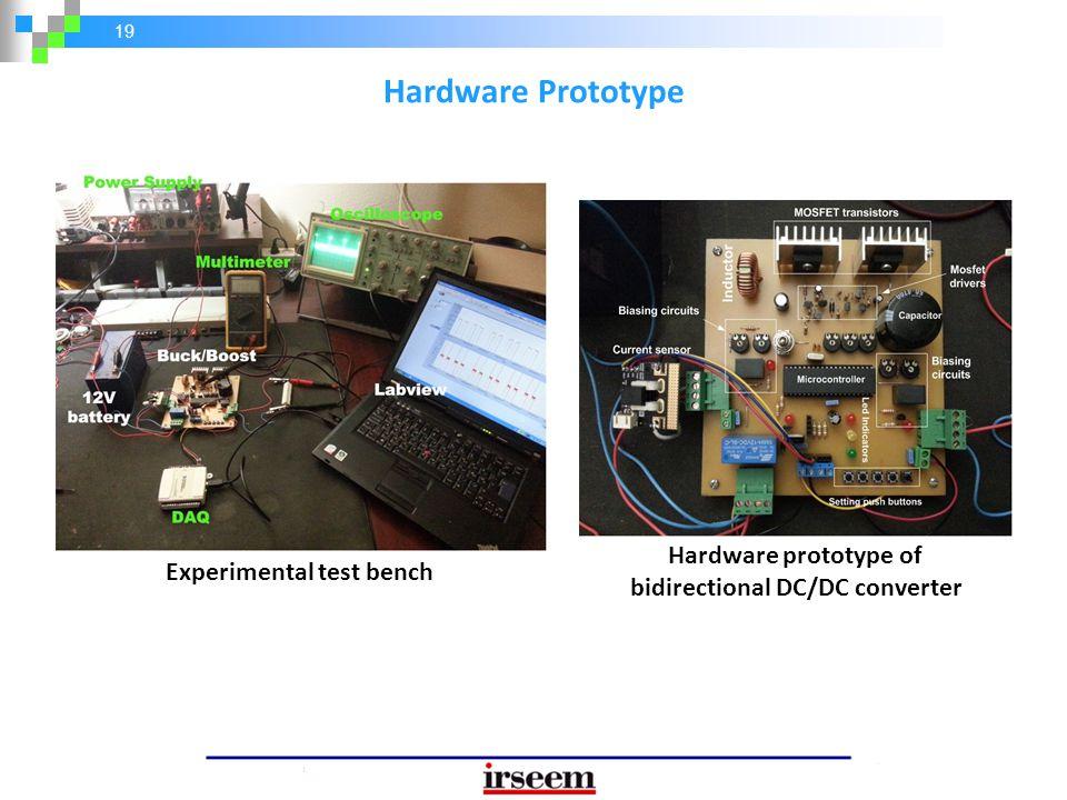 19 Hardware Prototype Experimental test bench Hardware prototype of bidirectional DC/DC converter