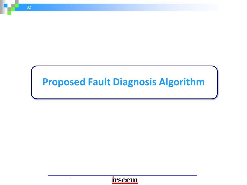32 Proposed Fault Diagnosis Algorithm