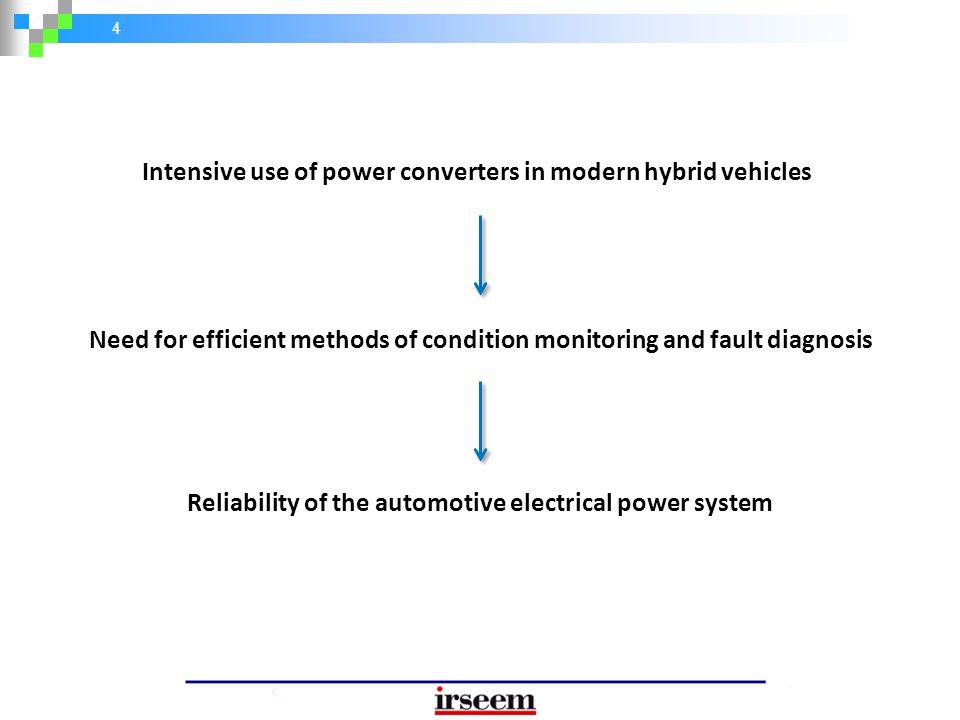 55 Conclusion Combining several disciplines to achieve an efficient comprehensive fault diagnosis scheme Battery PM UC DC/DC Converter Inverter DC bus sensor faults