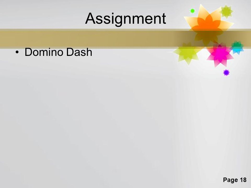 Page 18 Assignment Domino Dash
