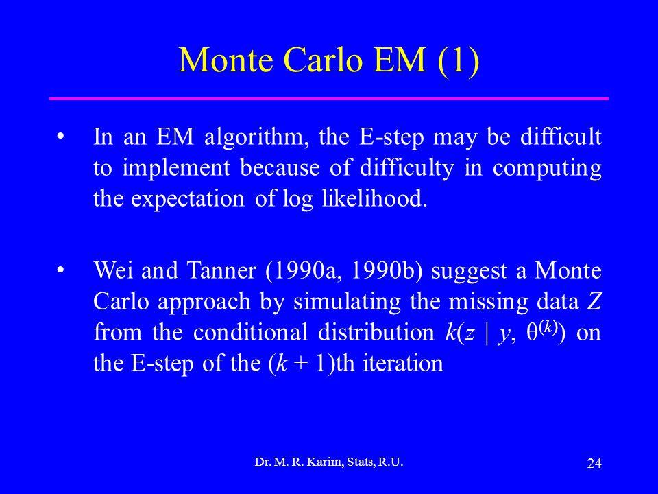 24 Dr. M. R. Karim, Stats, R.U.