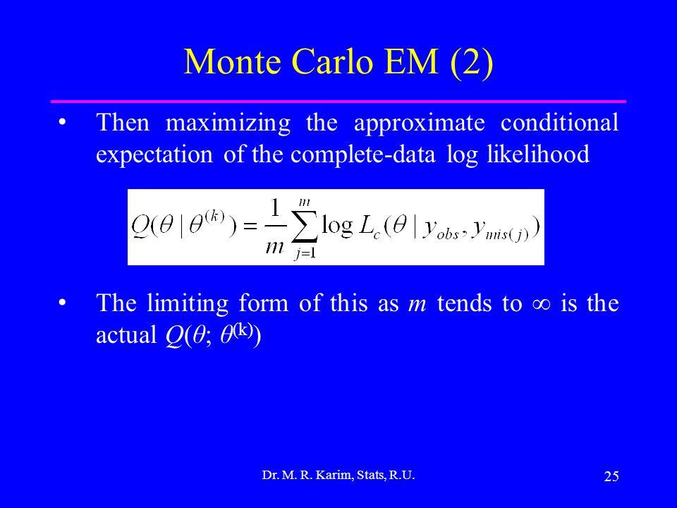 25 Dr. M. R. Karim, Stats, R.U.