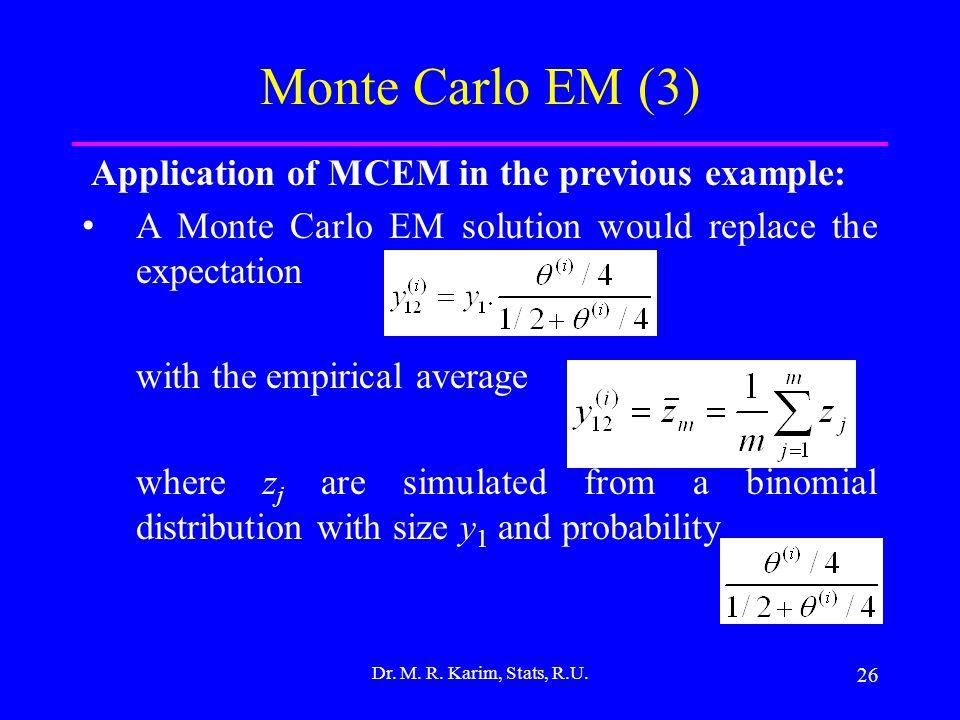 26 Dr. M. R. Karim, Stats, R.U.