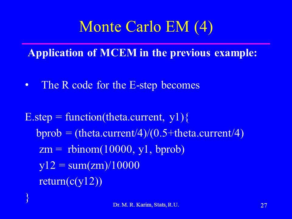 27 Dr. M. R. Karim, Stats, R.U.