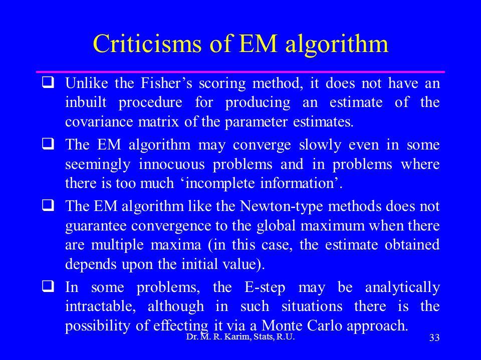 33 Dr. M. R. Karim, Stats, R.U.