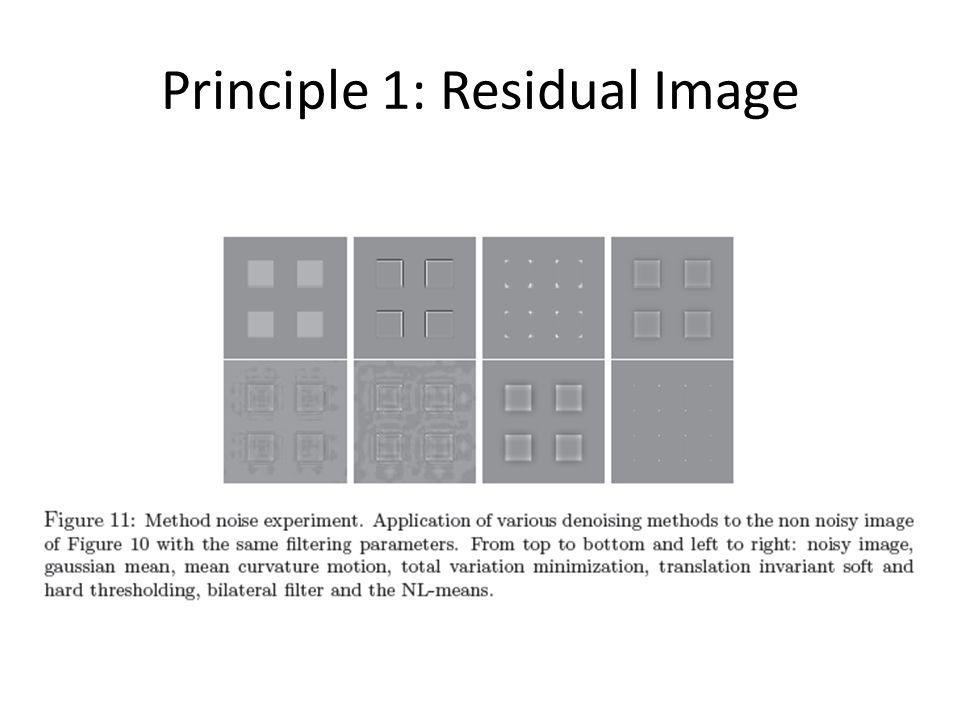 Principle 1: Residual Image