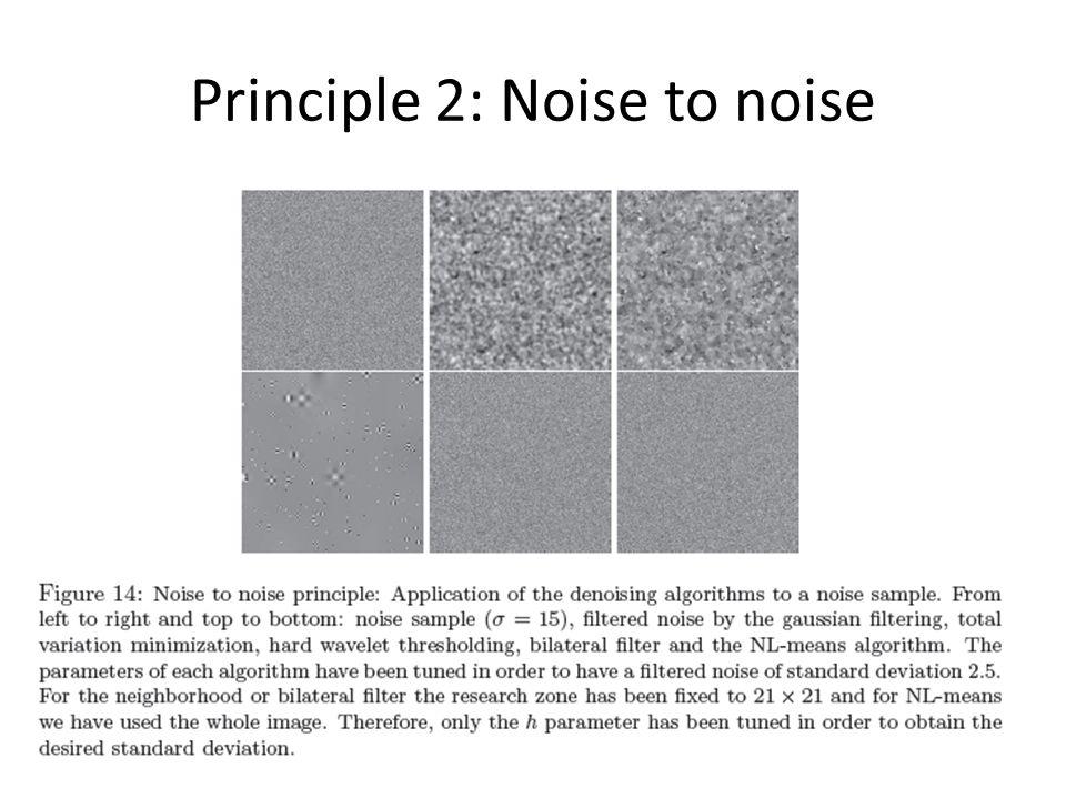 Principle 2: Noise to noise