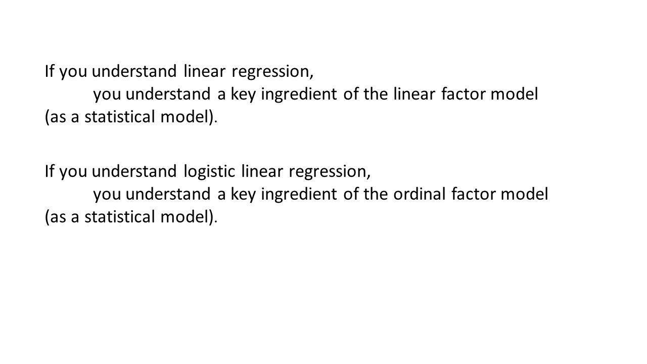 Path diagram regression model regression of Y on X : XYe b1 1 The model for the Y i = b0 + b1*X i + e i The implied model for the mean: mean(Y) = b0 + b1*mean(X) mean(Y) = b0 (if mean(x) = 0) The implied model for the covariance matrix: xyxy xs 2 xsxy= s 2 xb1*s 2 x ysxys 2 yb1*s 2 xb1 2 *s 2 x + s 2 e