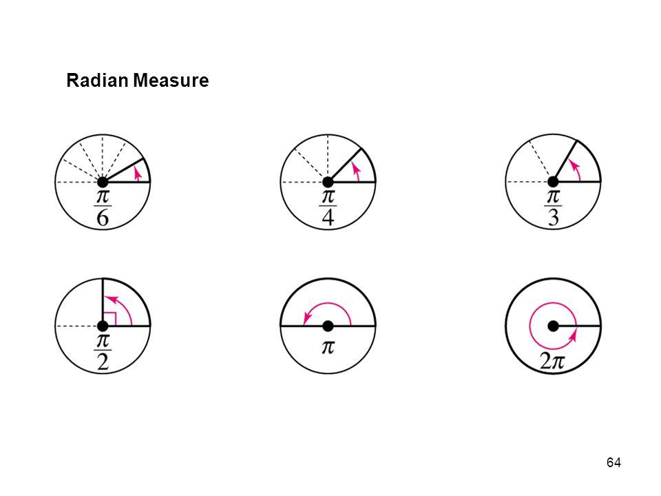 64 Radian Measure
