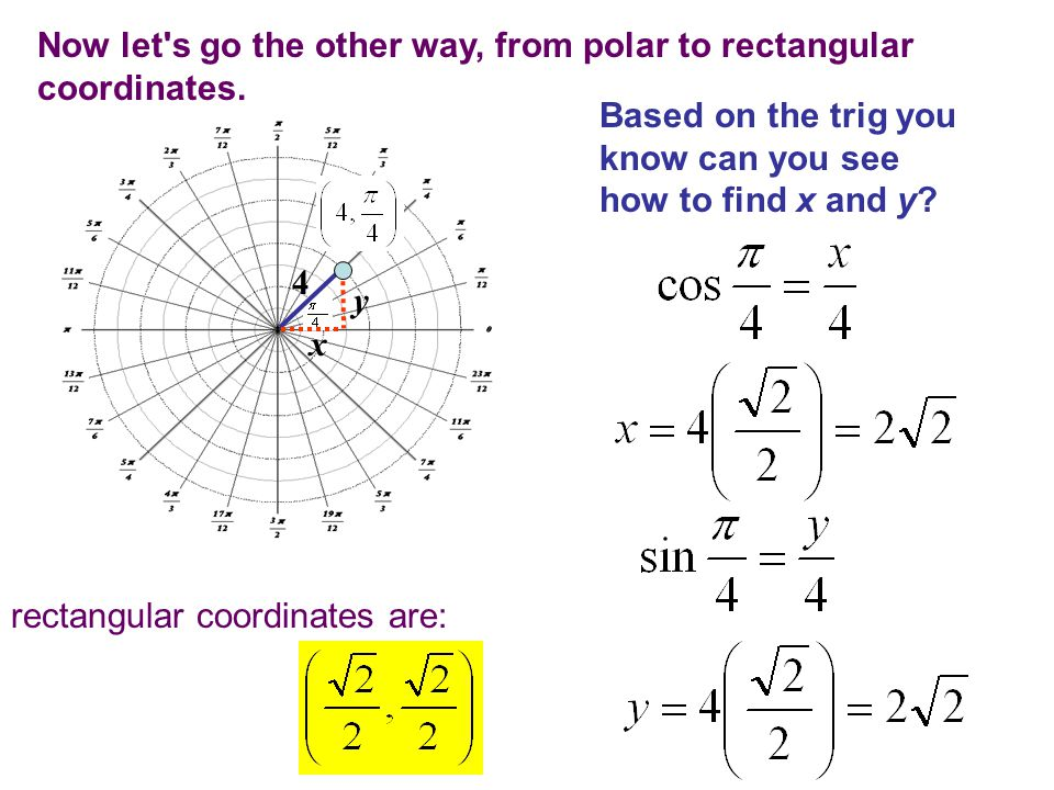 50 Now, of course you can simply use the calculator to find the value of the trig function of any angle and it will correctly return the answer with the correct sign.
