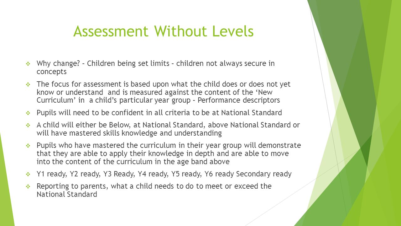 Assessment Without Levels  Why change.