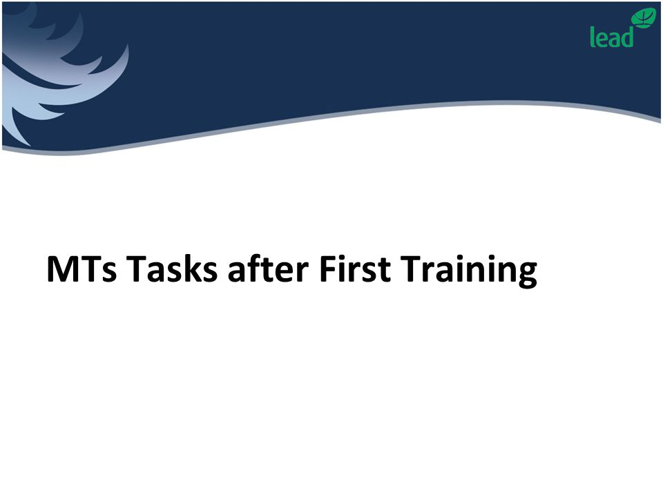 MTs Tasks after First Training