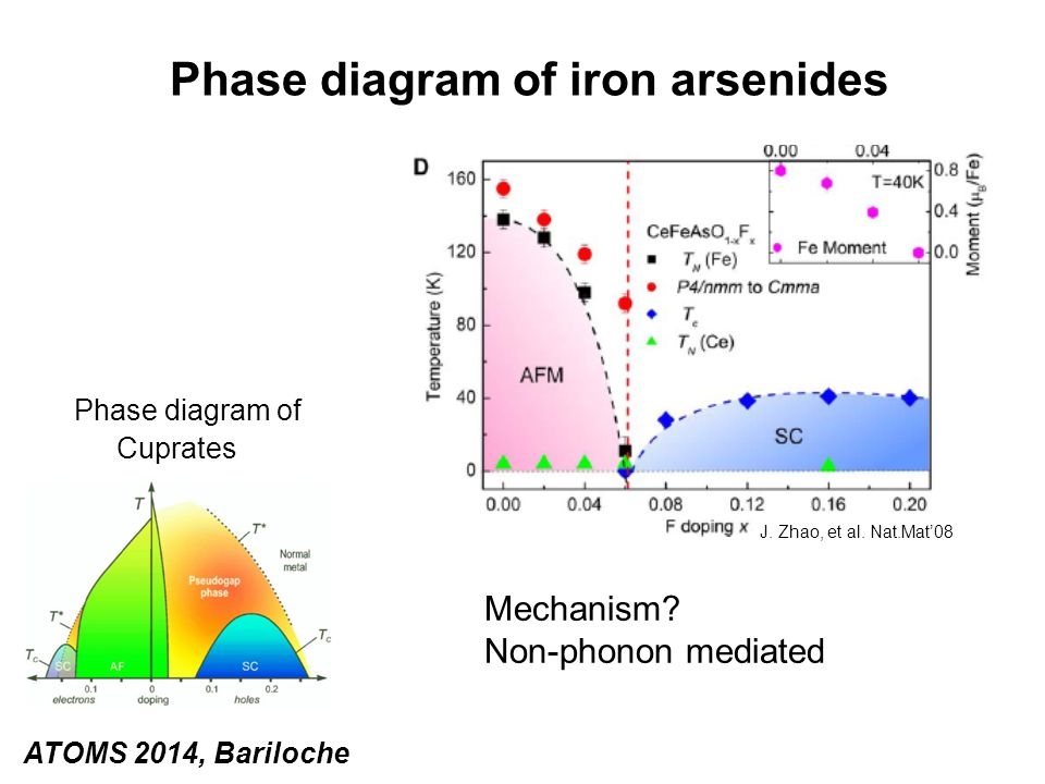 Phase diagram of iron arsenides Phase diagram of Cuprates Mechanism.