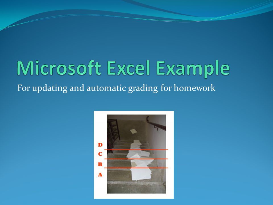 For updating and automatic grading for homework