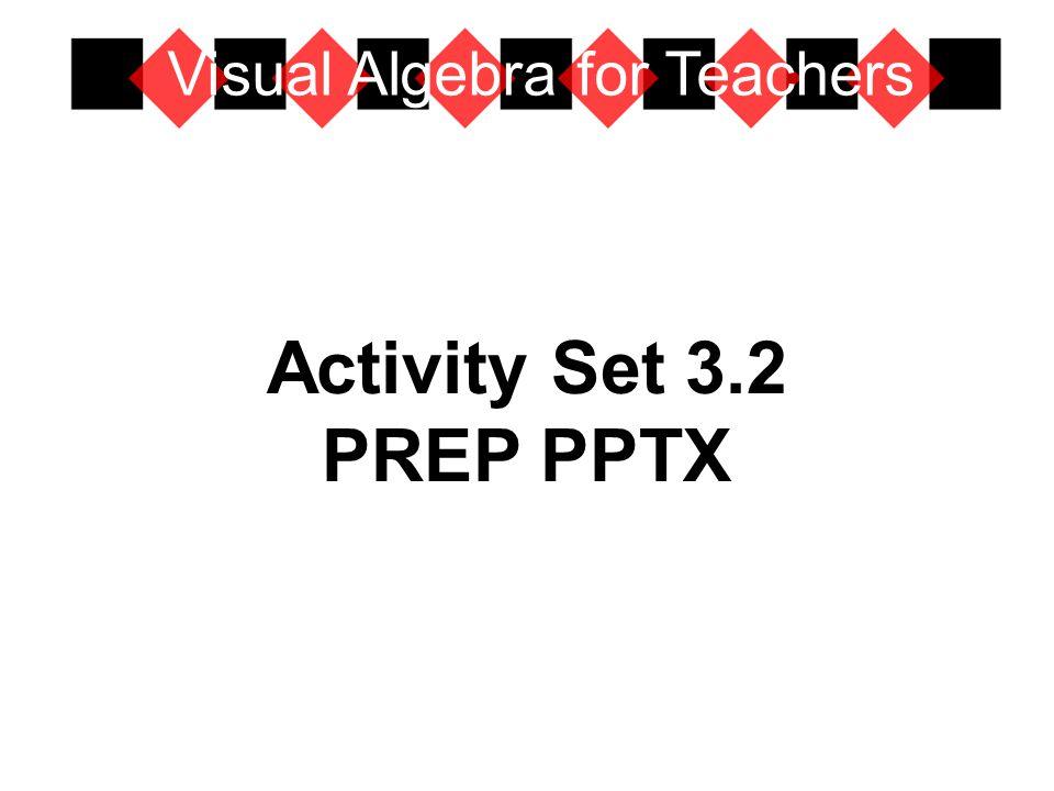 Activity Set 3.2 PREP PPTX Visual Algebra for Teachers