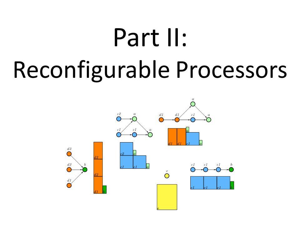 Part II: Reconfigurable Processors
