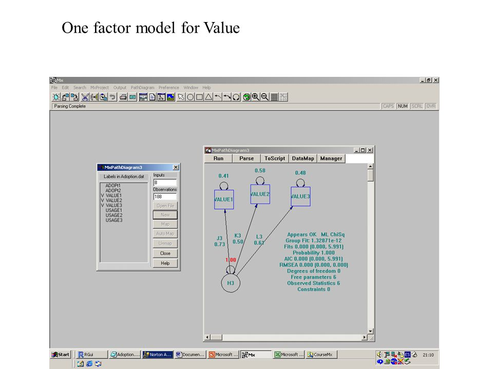 One factor model for Value