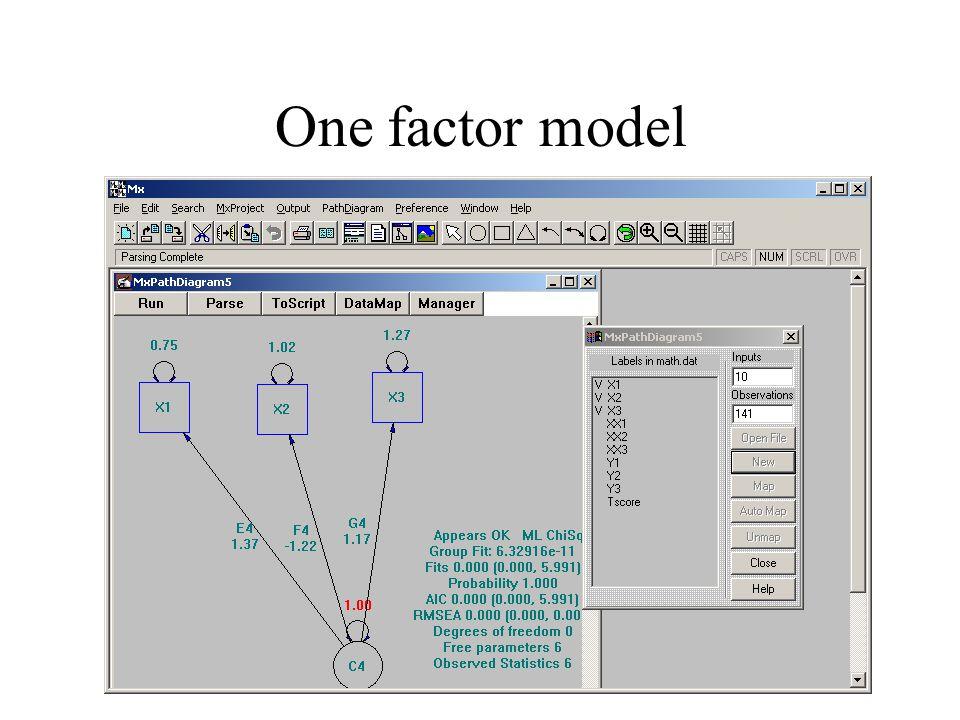 One factor model