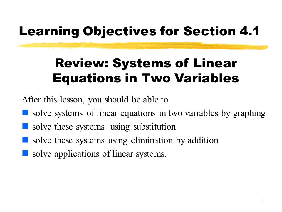 22 Examples Example: Solve the system using ANY method.