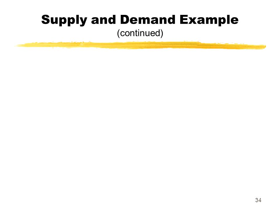 34 Supply and Demand Example (continued)