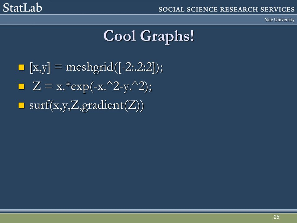 Cool Graphs.