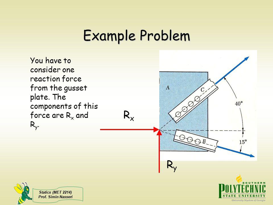 Statics (MET 2214) Prof.