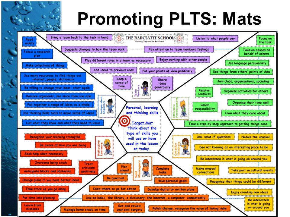 Promoting PLTS: Mats