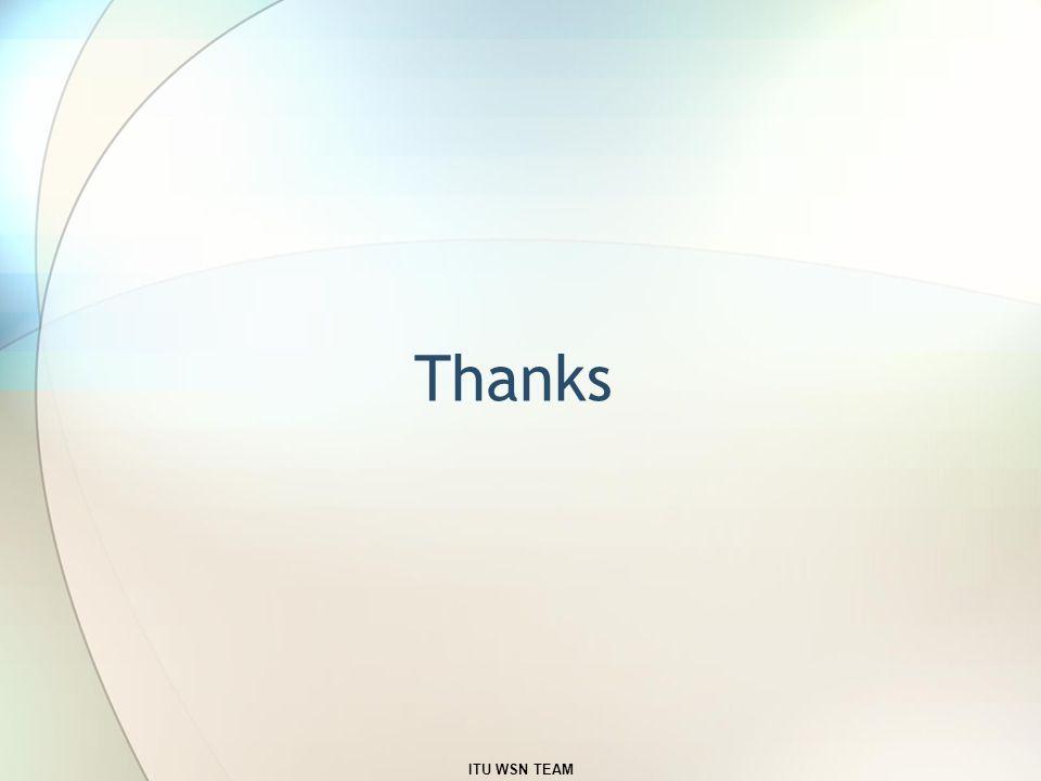 Thanks ITU WSN TEAM