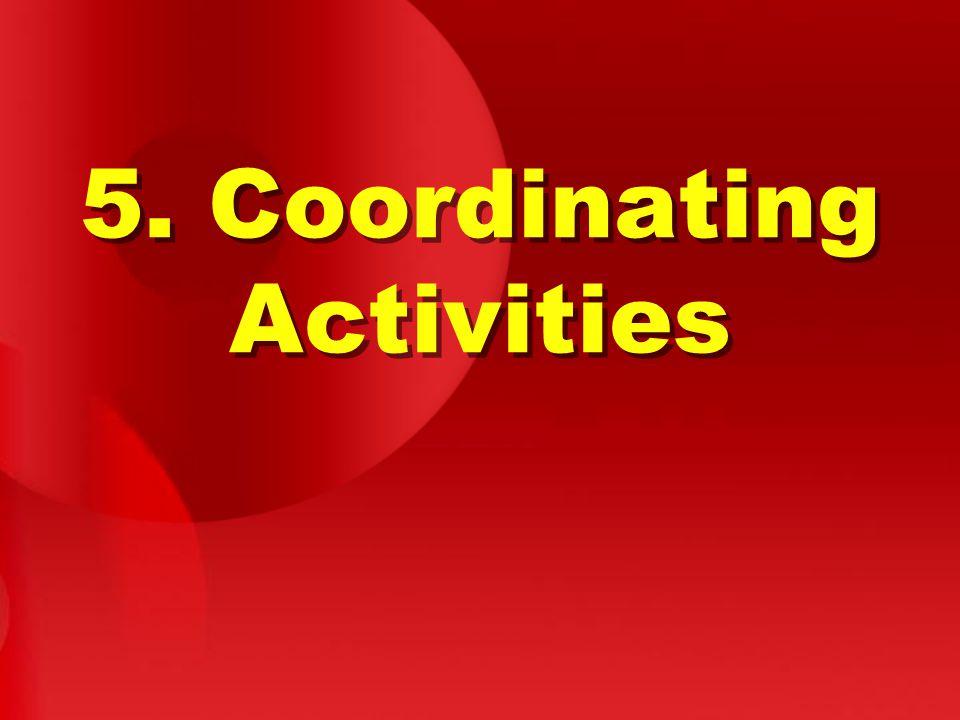 5. Coordinating Activities