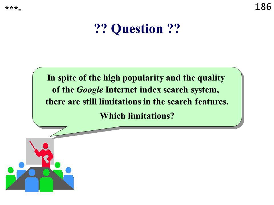 186 . Question .