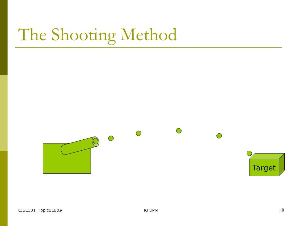 CISE301_Topic8L8&9KFUPM9 The Shooting Method Target