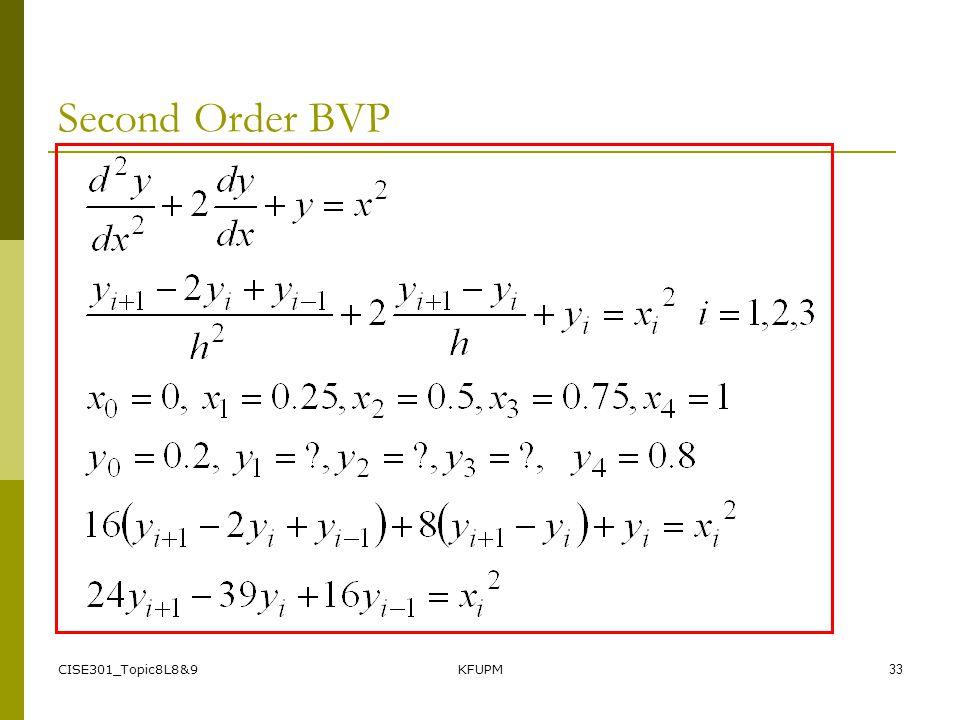 CISE301_Topic8L8&9KFUPM32 Second Order BVP