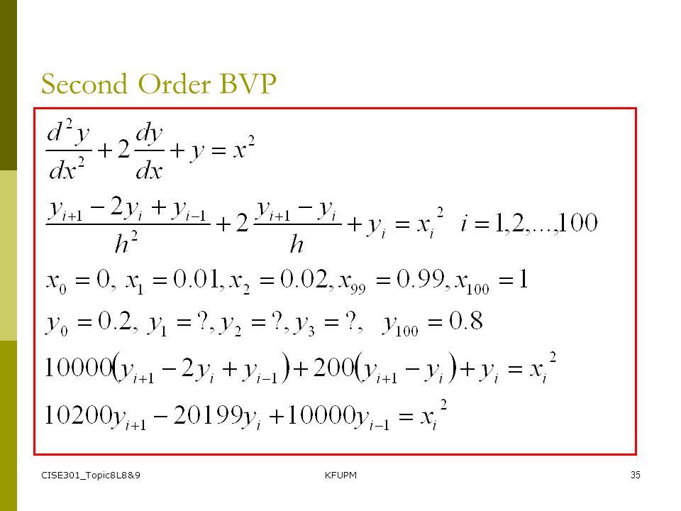 CISE301_Topic8L8&9KFUPM34 Second Order BVP