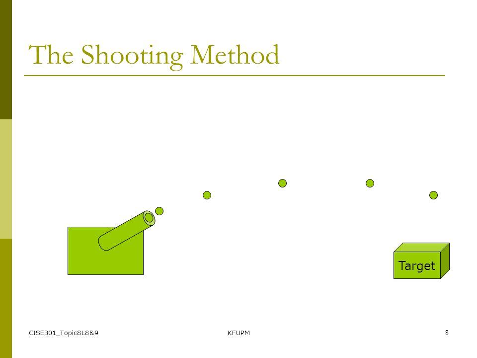 CISE301_Topic8L8&9KFUPM8 The Shooting Method Target
