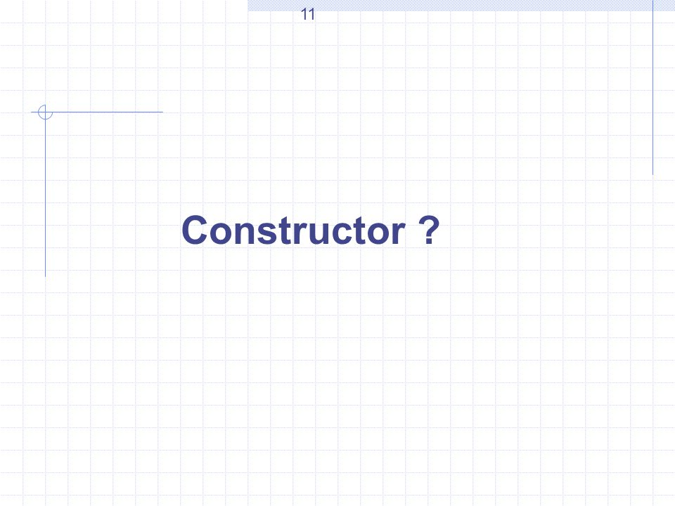 Constructor 11