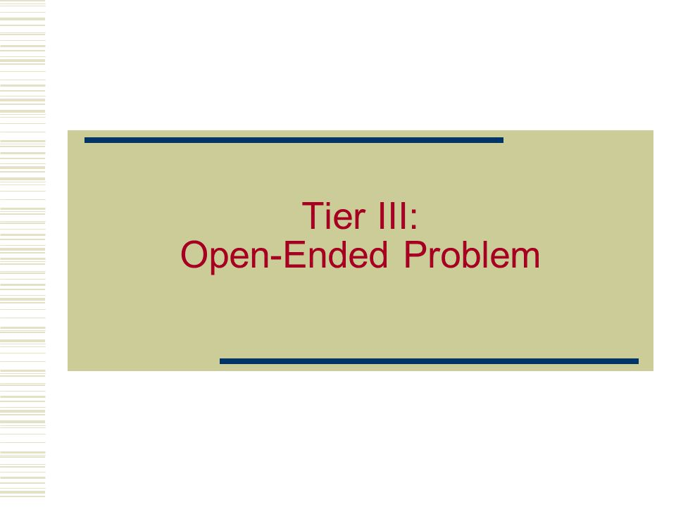 4 Tier III: Statement of Intent The purpose of this is to provide students with an open-ended problem which assimilates the concepts of minimum impact manufacturing including process integration and LCA.