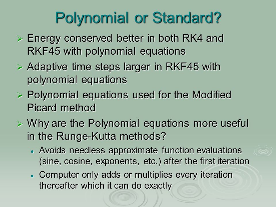 Polynomial or Standard.
