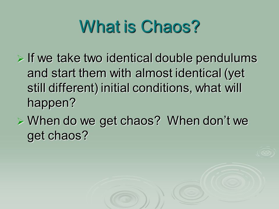 What is Chaos.