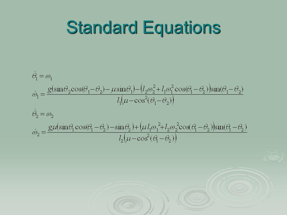 Standard Equations