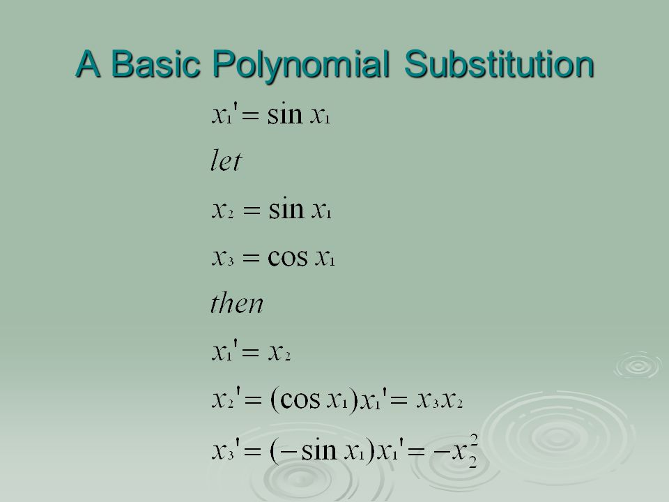 Substitutions for Polynomial Equations